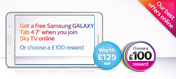 Free Tab 4 or £100 Voucher