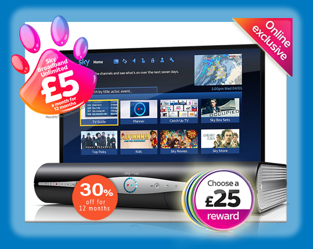 Free Voucher and discount Sky TV